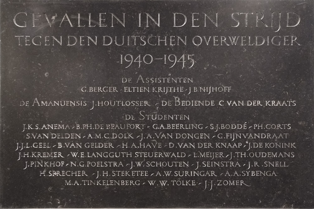 Plaquette Aula Universiteit Wageningen