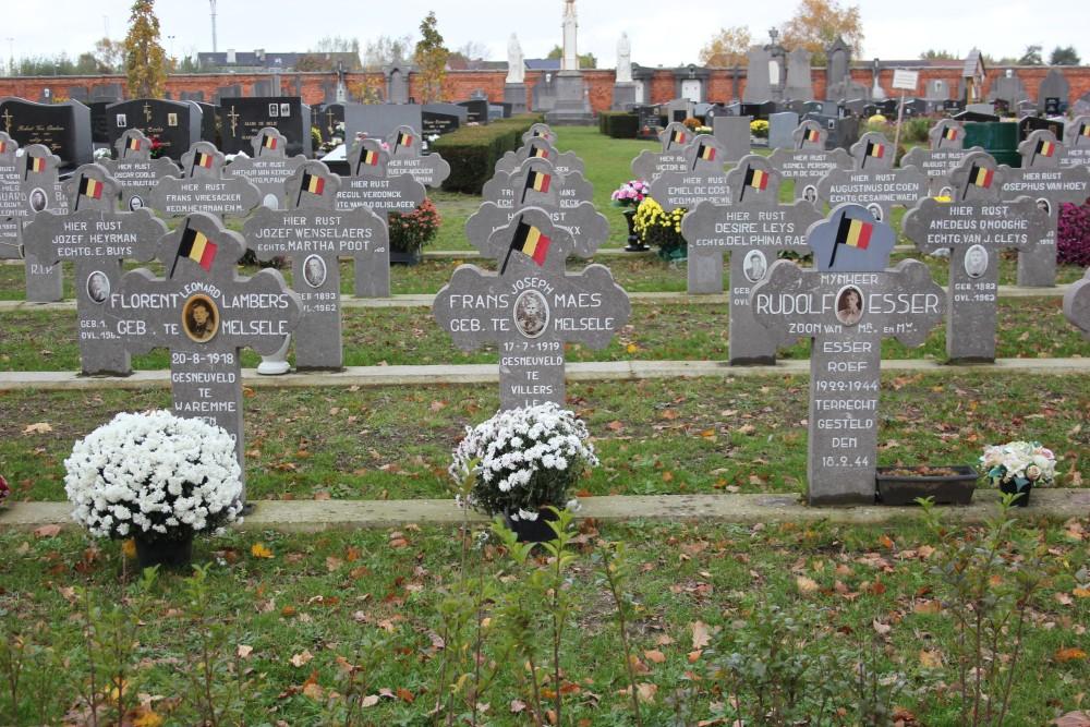 Belgian War Graves Melsele
