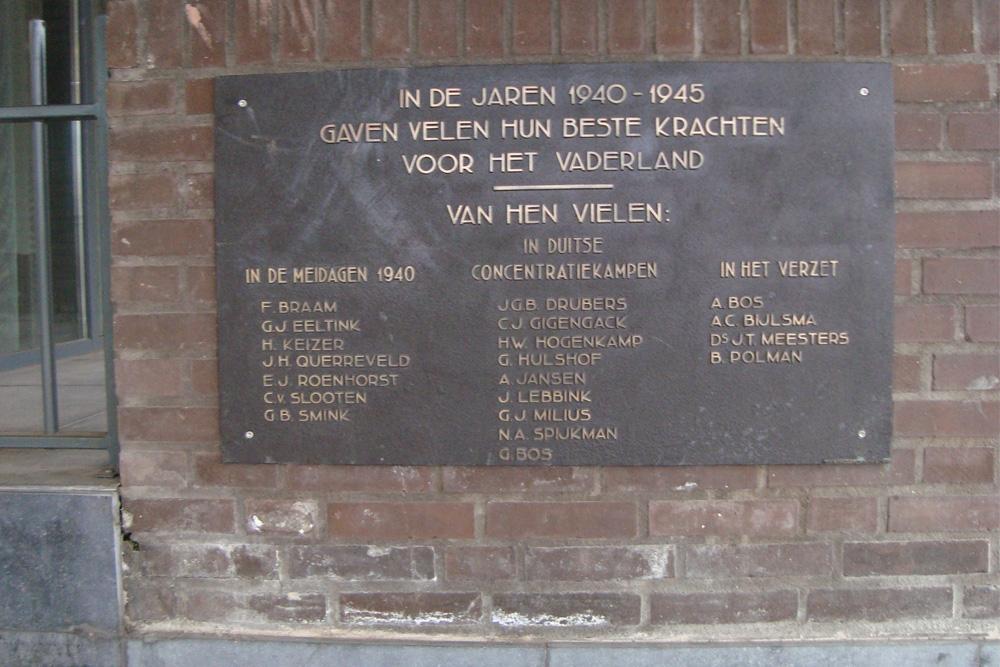 Plaquette in Gemeentehuis