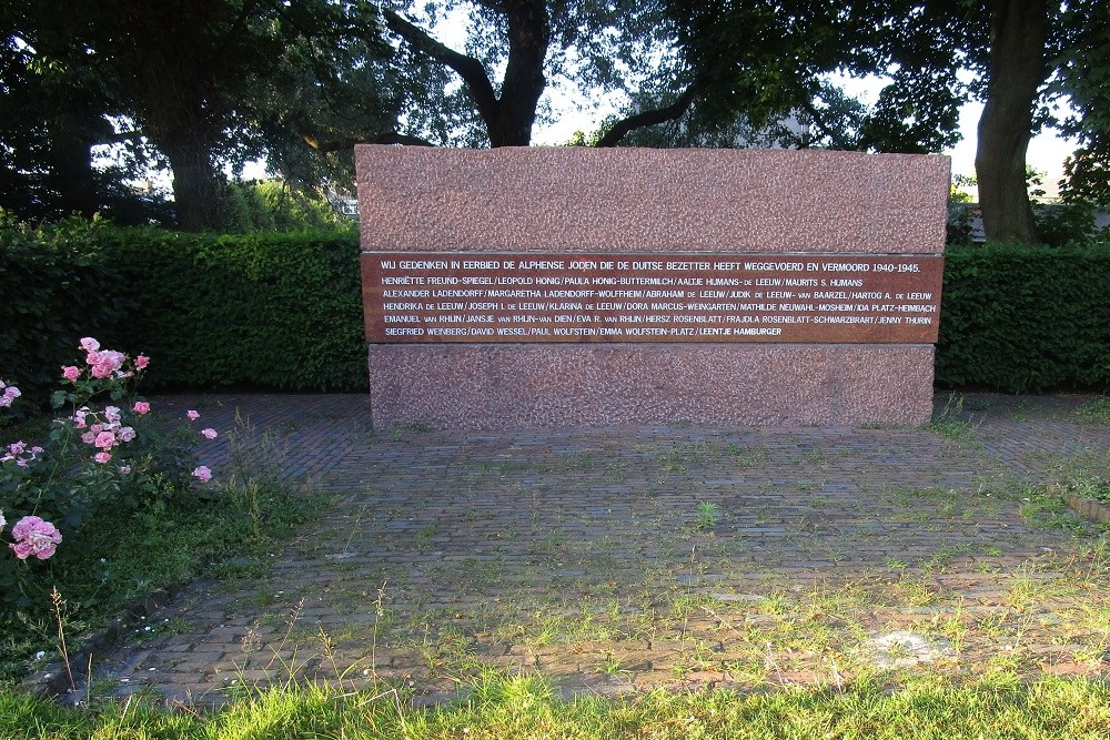 Jewish War Memorial Alphen aan den Rijn