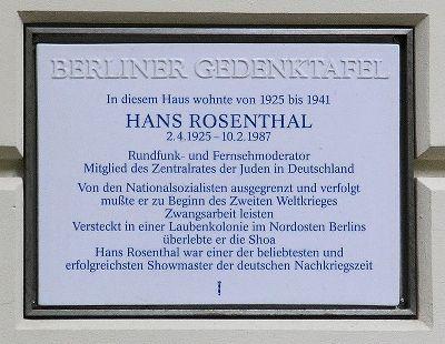 Plaque Hans Rosenthal