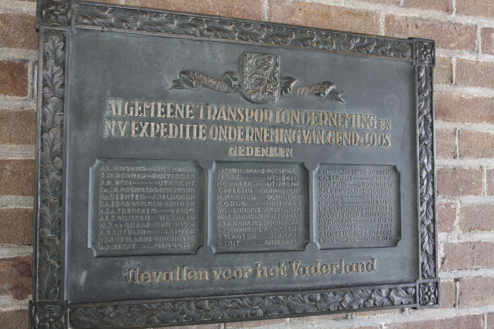 Plaque Killed Employees Van Gend & Loos