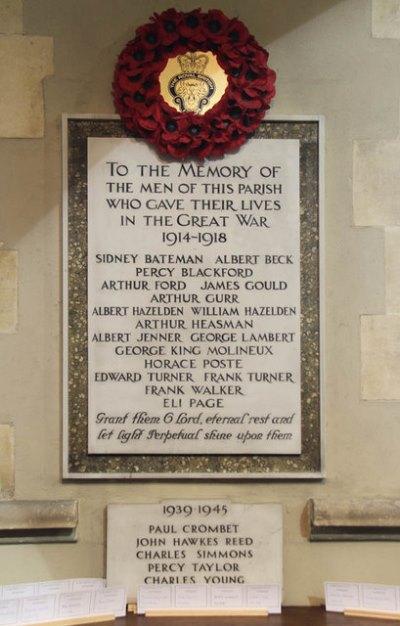 War Memorial St. Margaret of Antioch Church