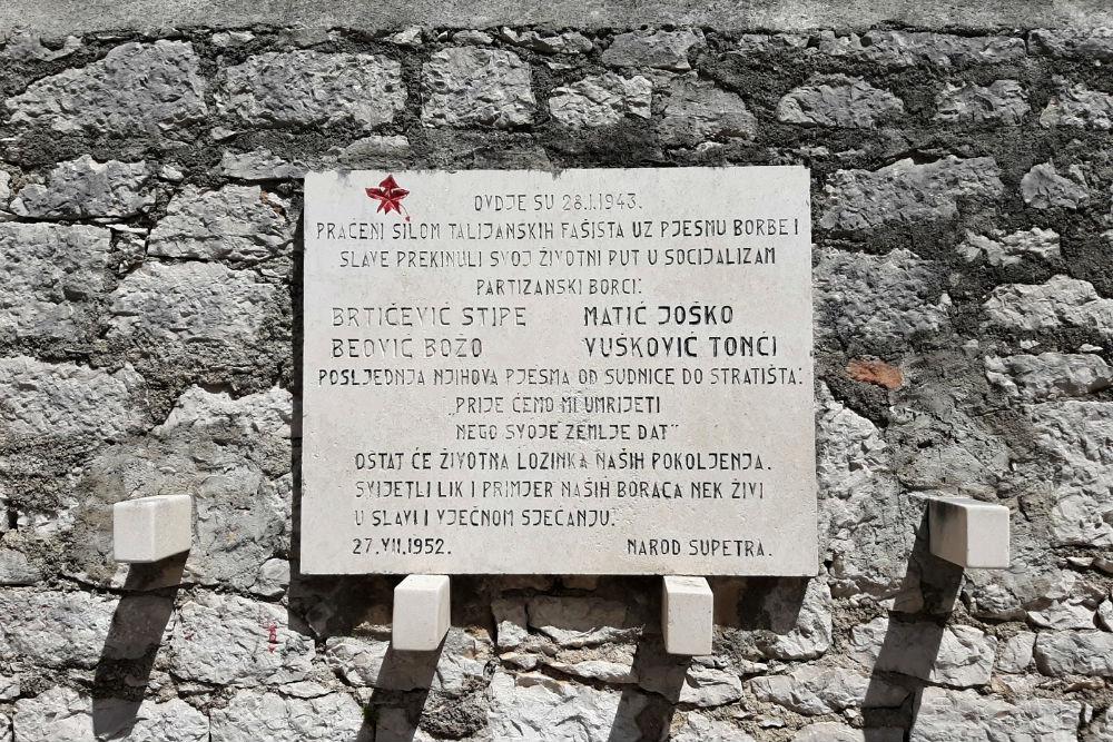 Memorial Plaque Supetar
