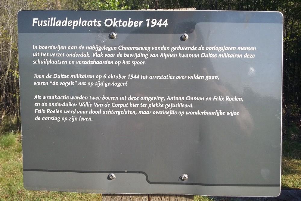 Fusillade Monument Oktober 1944 Alphen