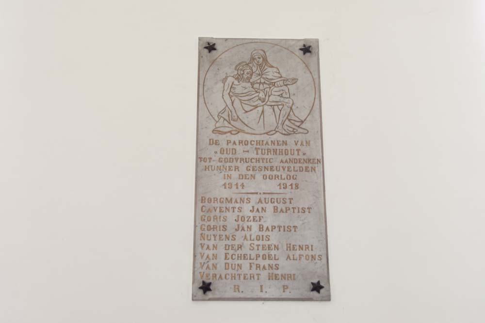 Memorial Stone Fallen WWI Sint-Bavo parish Oud-Turnhout