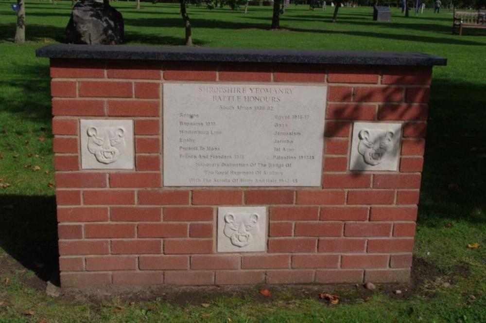 Monument Shropshire Yeomanry