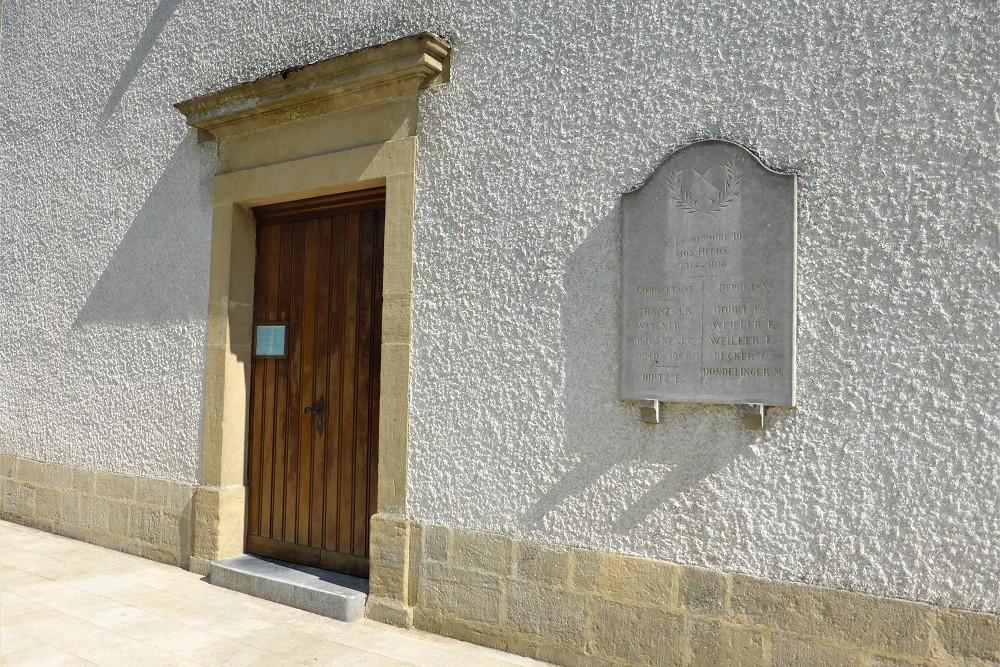 Commemorative plaque Lischert