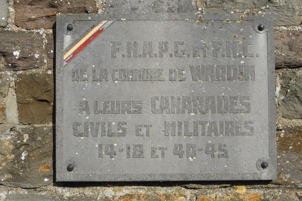 Commemorative Plaque Wardin-Neffe
