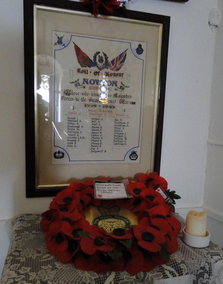 World War II Roll of Honour St. Peter Church