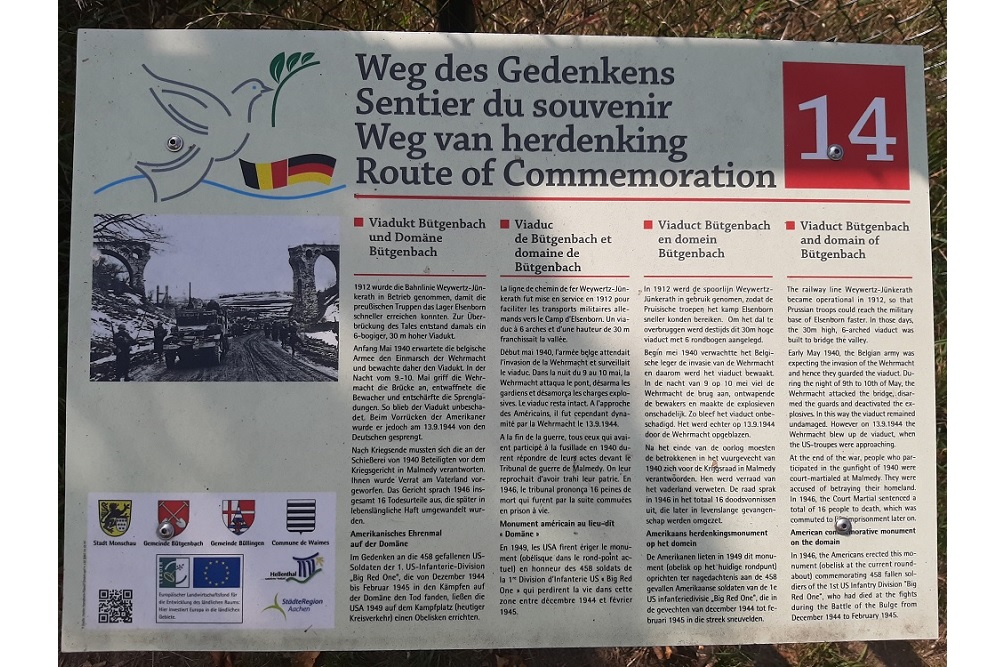 Route of Commemoration No.14: Viaduct Bütgenbach