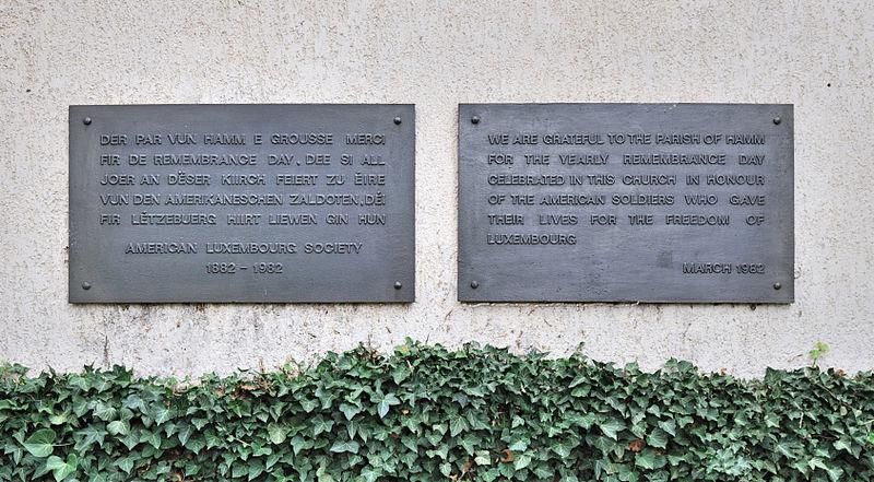 Plaquette Jaarlijkse Herdenking US-slachtoffers