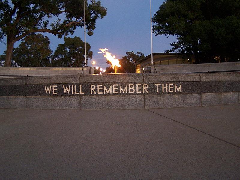 Memorial Fallen Western Australians