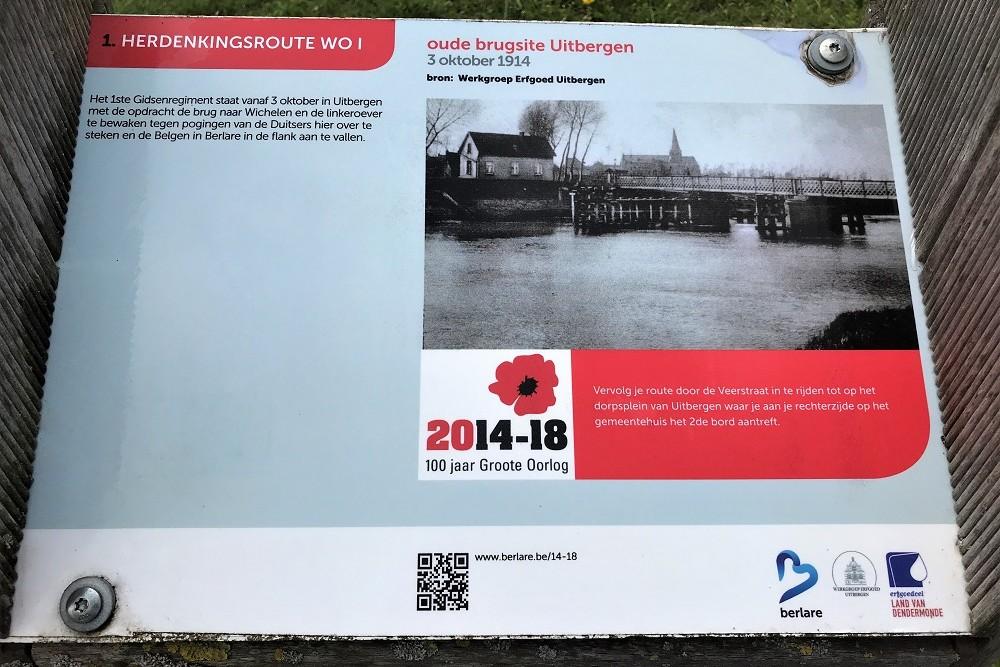 Herdenkingsroute 100 jaar Groote Oorlog - Informatiebord 1
