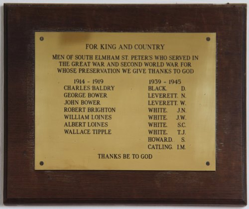 Roll of Honour St. Peter Church