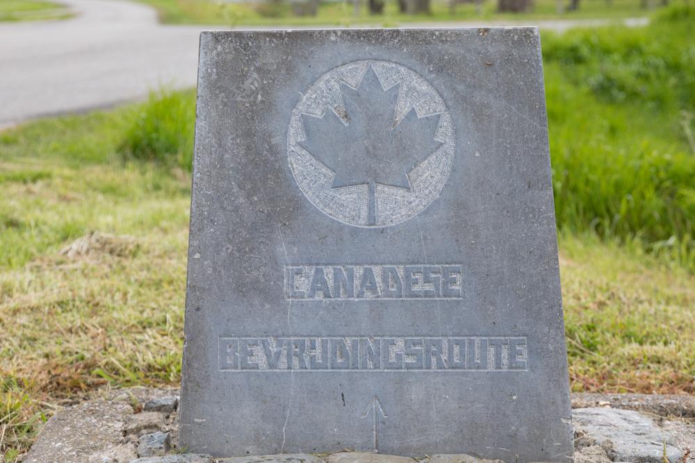 Wegmarkering nr. 6 Canadese Bevrijdingsroute