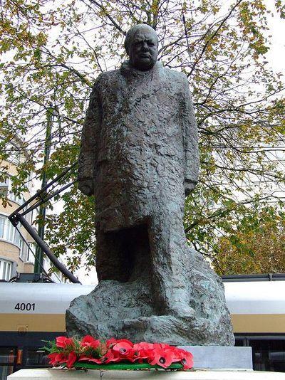Statue Winston Churchill Ukkel