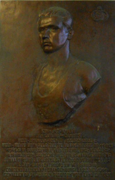 Gedenkplaat Jan Guilini Zwembad Jan Guilini Brugge