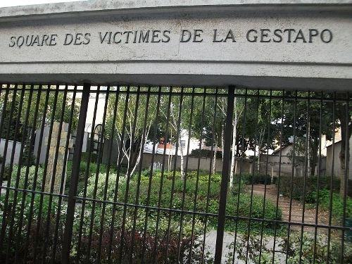 Plein voor de Slachtoffers van de Gestapo