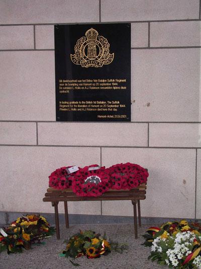 Gedenkplaat bevrijders Hamont-Achel