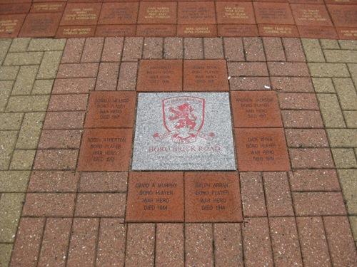 Monument Gesneuvelde Voetballers Middlesbrough