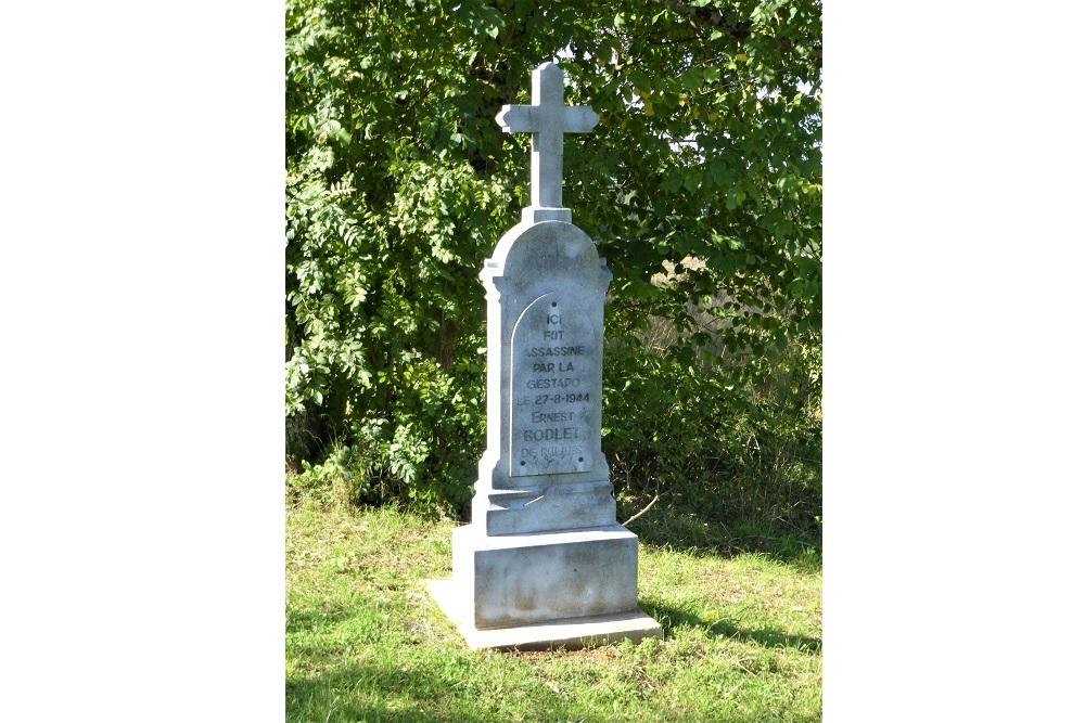 Gedenkteken voor Ernest Bodlet