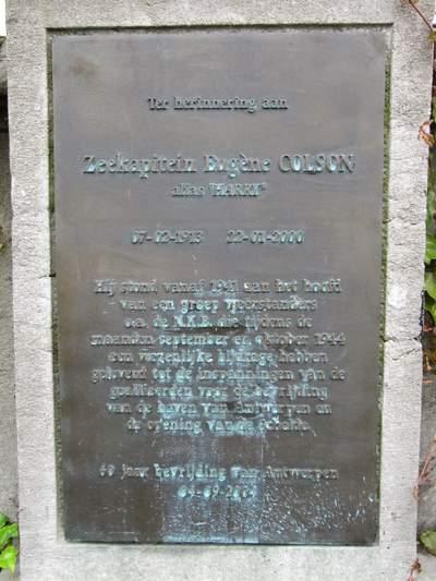 Plaquette Zeekapitein Eugène Colson (