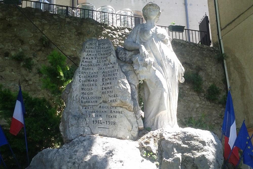 War memorial Moustiers-Sainte-Marie