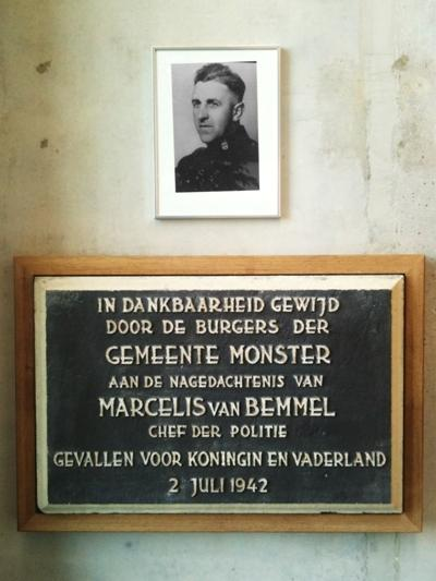 Plaque Marcelis van Bemmel