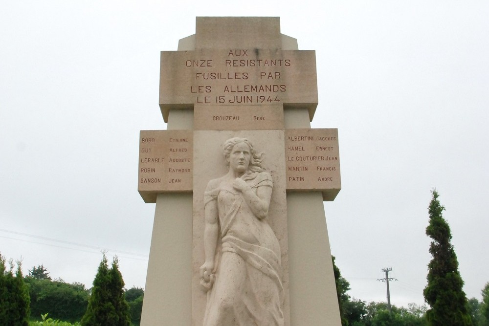 Monument Executed Resistance Members Beaucoudray