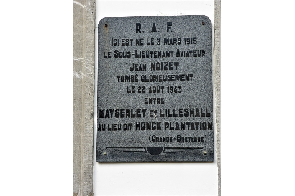 Memorial Plaque for Jean Noizet
