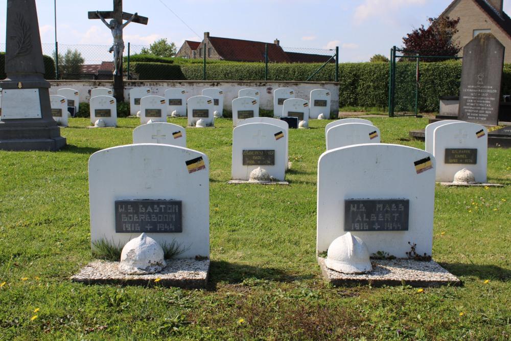 Belgian War Graves Old Cemetery Heist