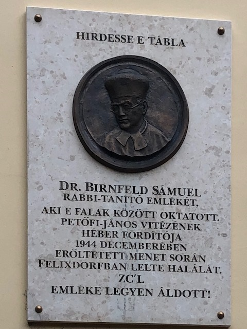 Monument Rabbi Samuel Birnfeld