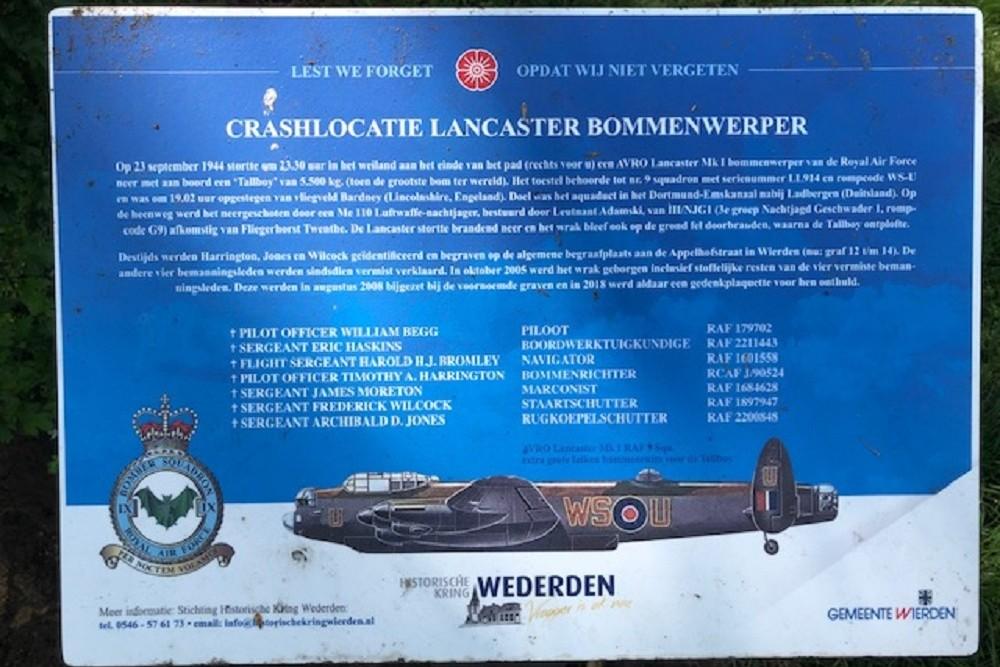 Crashlocatie Avro Lancaster LL914 Rijssen