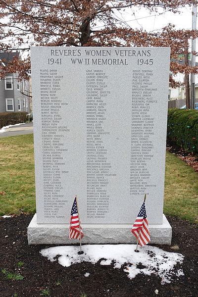 Women Veterans World War II Memorial Revere