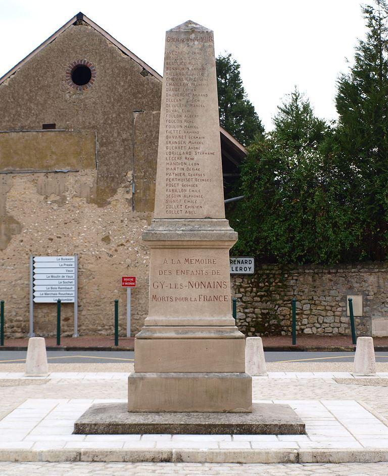 War Memorial Gy-les-Nonains