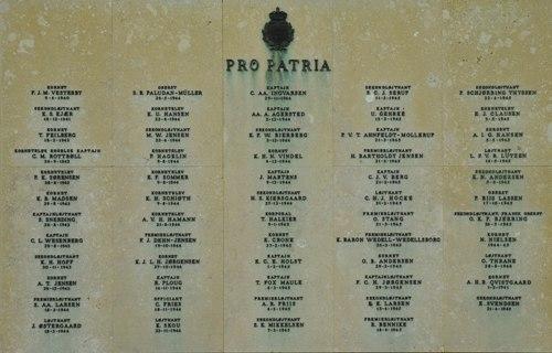 Monument Omgekomen Deense Officieren