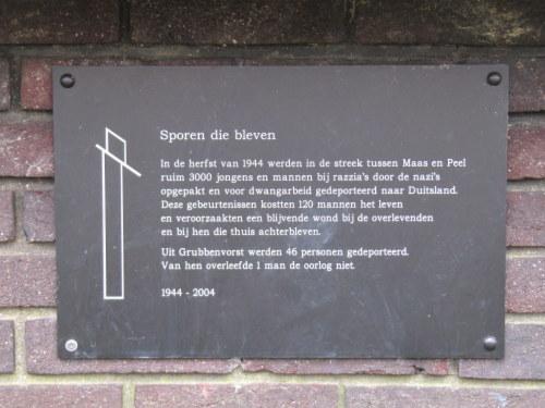Monument 'Sporen die bleven' Grubbenvorst
