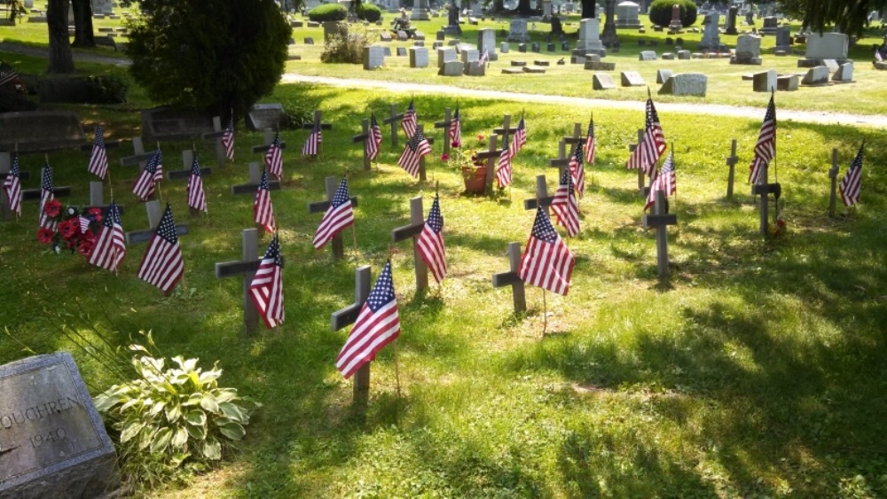 American War Graves Sylvan Lawn Cemetery