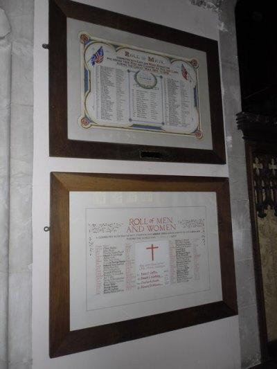 War Memorial All Saints Church East Stratton