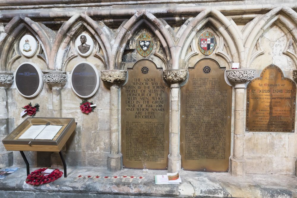 Plaquettes Selby Abbey