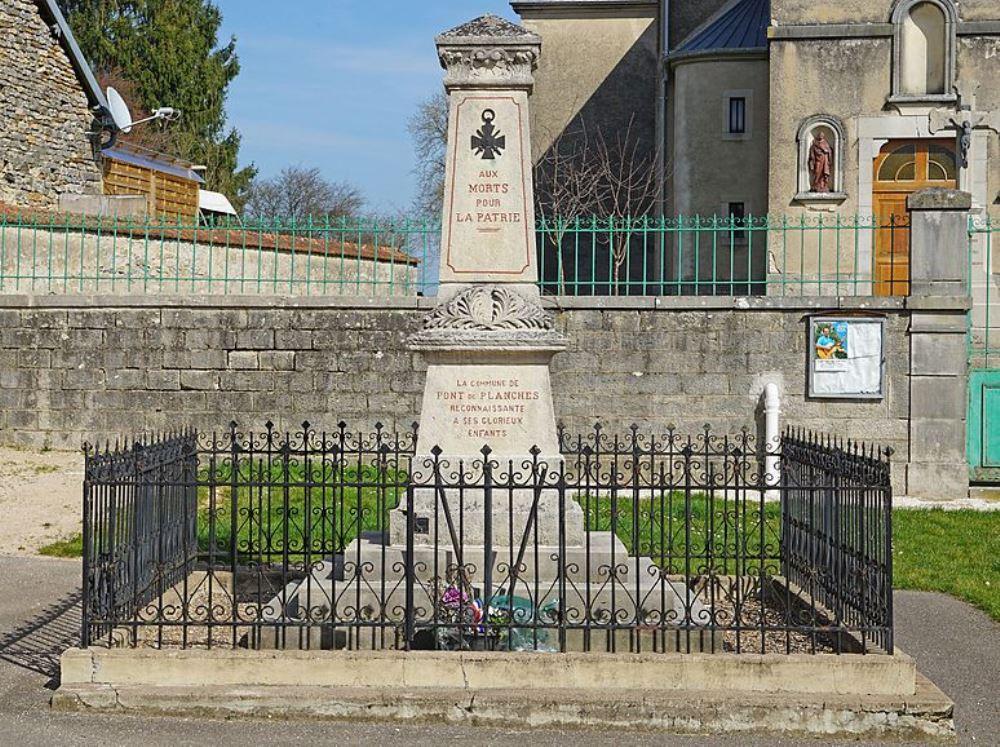 World War I Memorial Le Pont-de-Planches