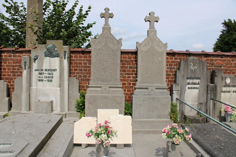 Belgische Oorlogsgraven Chapelle-à-Oie