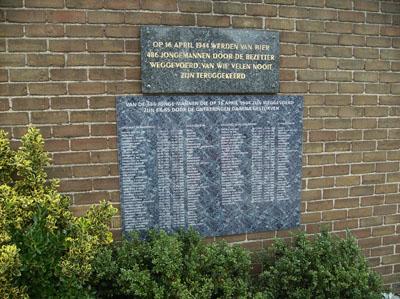 Plaque Raid Beverwijk