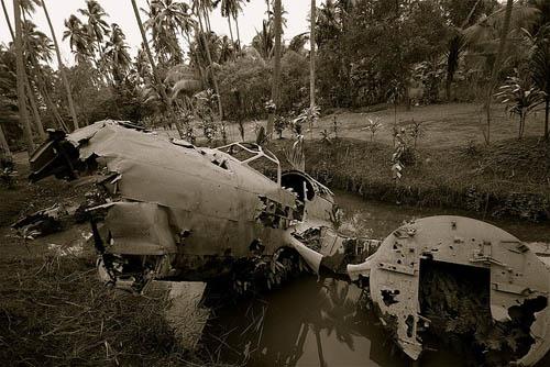 Wreckage Mitsubishi Ki-21 Bomber Rabaul