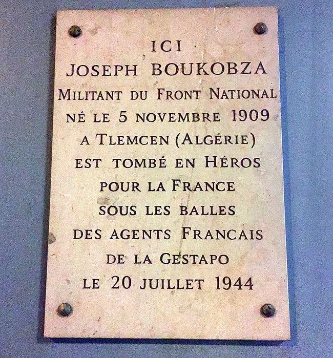 Plaquette Joseph Boukobza