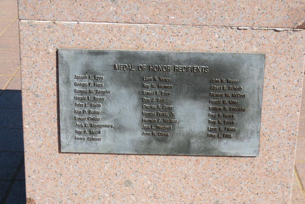 Monument Medal of Honor ontvangers
