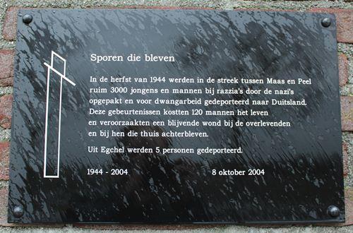 Monument 'Sporen die bleven' Egchel