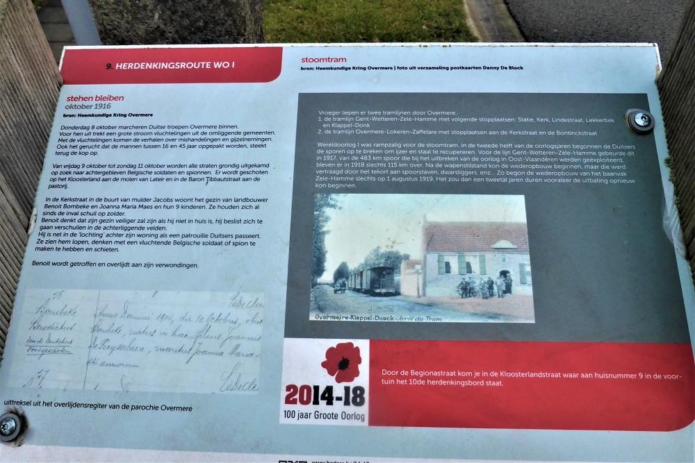 Herdenkingsroute 100 jaar Groote Oorlog - Informatiebord 9