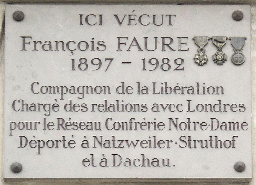 Plaque François Faure